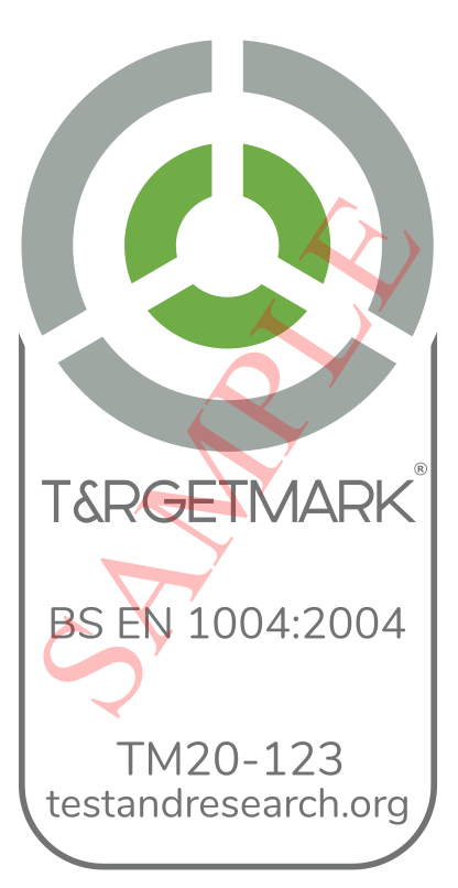 TARGETMARK - CERT MARK SAMPLE EN 1004 - V1.0