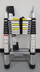 Telescopic ladder with sub-standard labelling