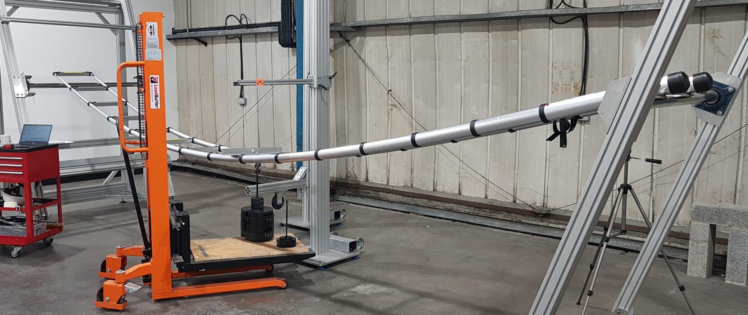 6.2m telescopic bending test